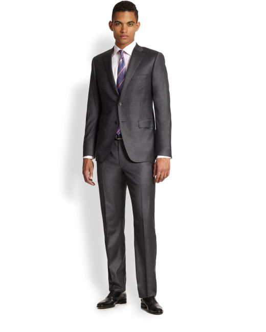 Saks Fifth Avenue | Gray Samuelsohn Basic Wool Suit for Men | Lyst