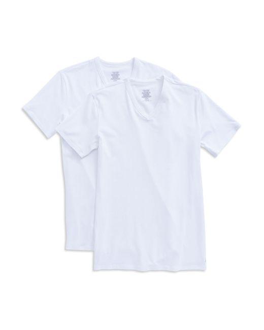Calvin Klein | White 2-pack Stretch Cotton Tee for Men | Lyst