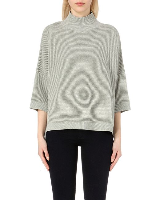 French Connection | Gray Mozart High-neck Cotton Jumper | Lyst