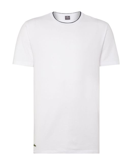 Lacoste | White Nightwear Crew Neck T-shirt for Men | Lyst