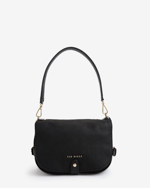 Ted Baker Black Leather Saddle Bag