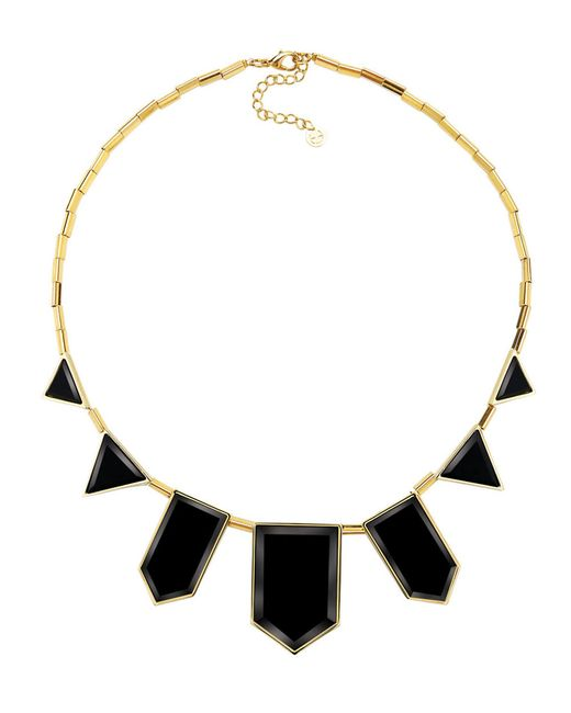 House of Harlow 1960 | Black Geometric Station Necklace | Lyst