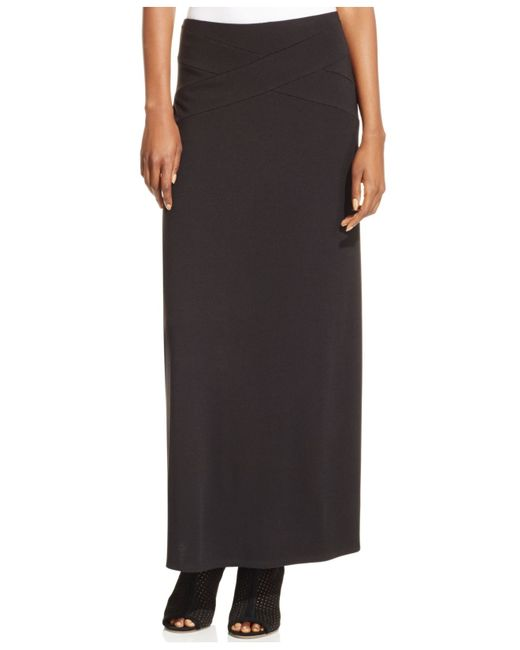 Eci | Black Solid Maxi Skirt | Lyst