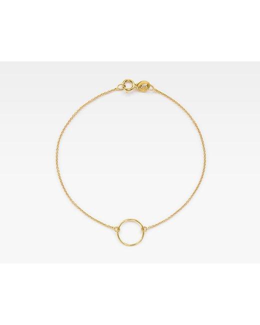 Vrai & Oro | Metallic Circle Bracelet | Lyst