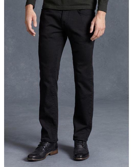 John Varvatos | Black Bowery Knit Jean for Men | Lyst