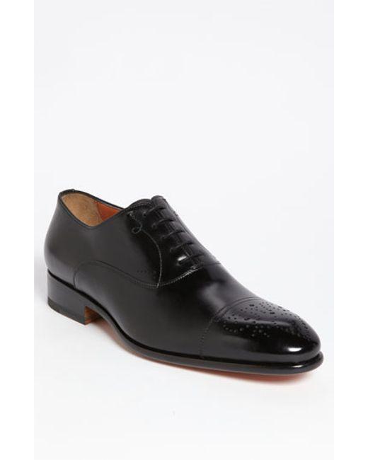 Santoni | Brown 'stafford' Cap Toe Oxford for Men | Lyst