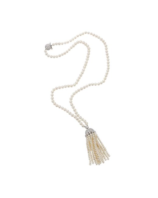 Fantasia Jewelry | White Lariat Pearl Necklace | Lyst