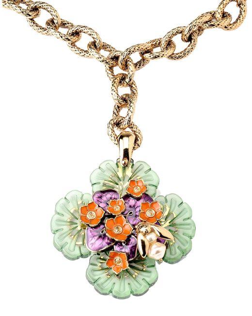Roberto Cavalli | Green Necklace | Lyst