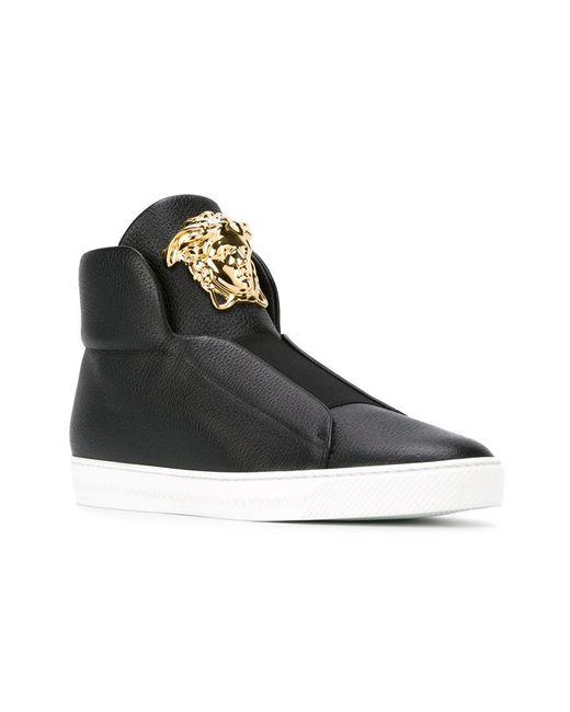 Versace Medusa HighTop Sneakers in Black for Men  Lyst