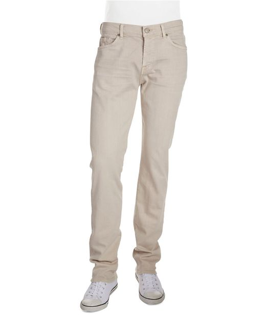 7 For All Mankind | Natural Luxe Performance: Slimmy Slim Straight-leg Jeans for Men | Lyst