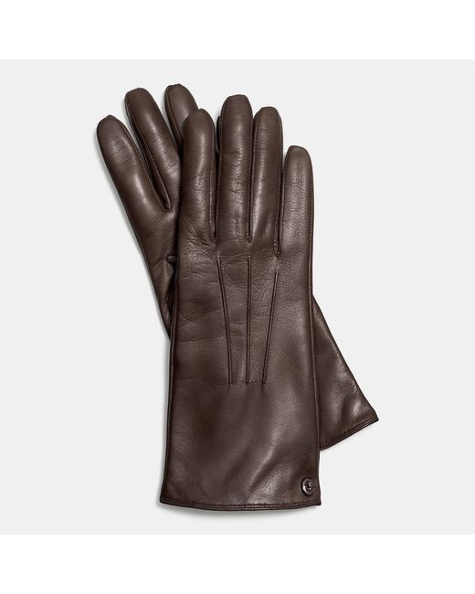 COACH | Black Iconic Leather Glove | Lyst