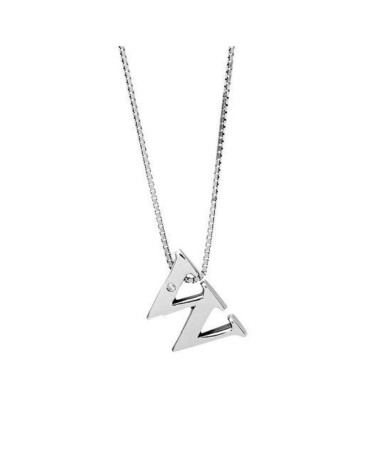 Azendi | Metallic Letter W Sterling Silver Diamond Pendant | Lyst