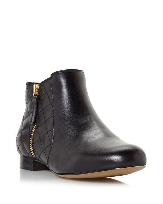 Dune | Black Quest Quilted Leather Booties | Lyst