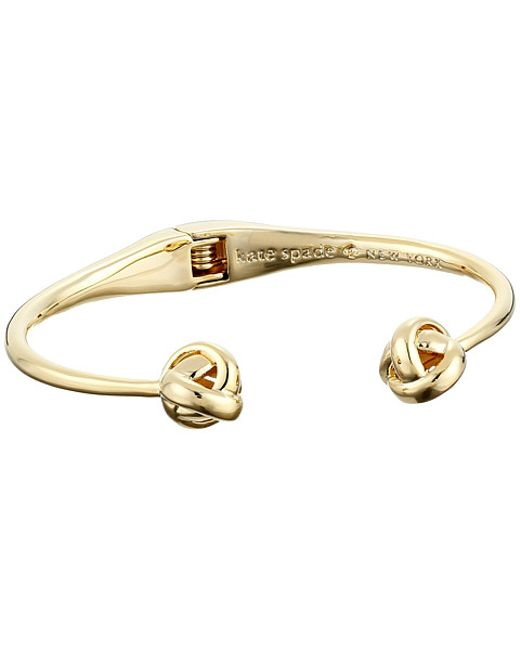 Kate Spade | Metallic Dainty Sparklers Knot Cuff Bracelet | Lyst