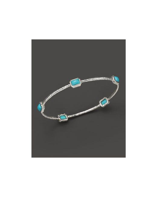 Ippolita | Blue Rock Candy Sterling Silver 5-stone Bangle In Turquoise | Lyst