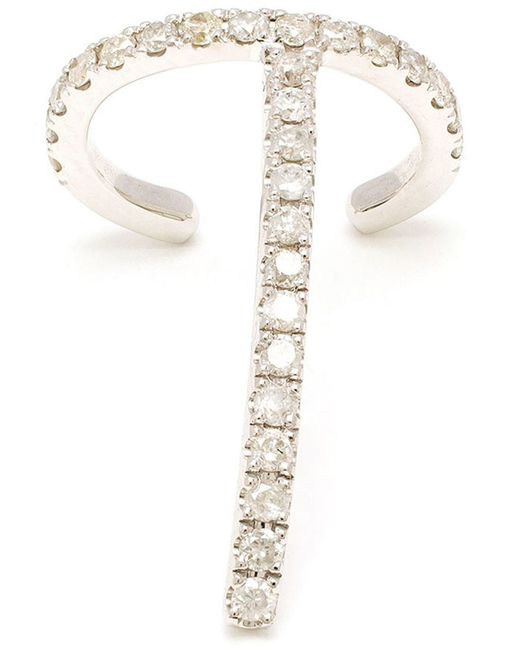 Asherali Knopfer | Metallic 'theo' Diamond Earring | Lyst