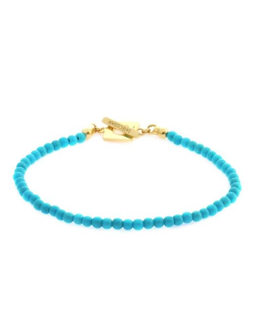 Tateossian | Blue Turquoise Precious Stone Bracelet With 18k Yellow Gold Clasp for Men | Lyst