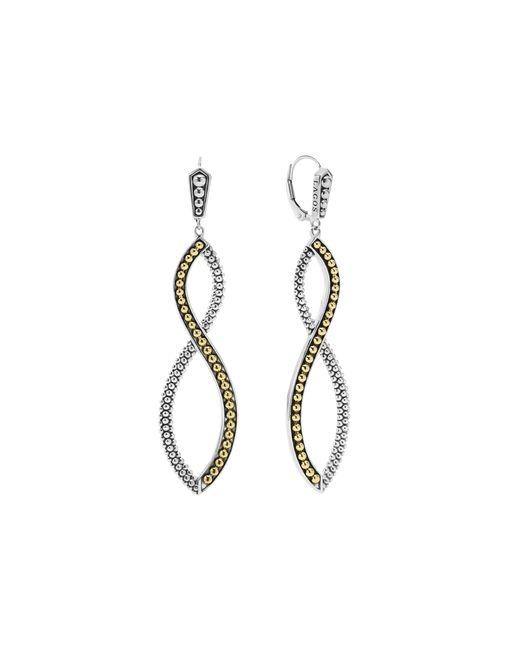 Lagos | Metallic Infinity Twist Drop Earrings | Lyst