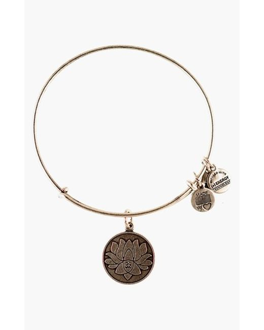 ALEX AND ANI | Metallic 'lotus Peace Petals' Expandable Wire Bangle - Rafaelian Silver | Lyst