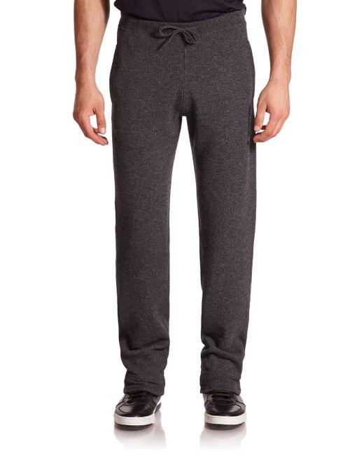 Ferragamo | Gray Cashmere Jogger Pants for Men | Lyst