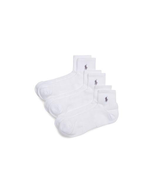 Polo Ralph Lauren | White Quarter Sport Socks, Pack Of 3 for Men | Lyst