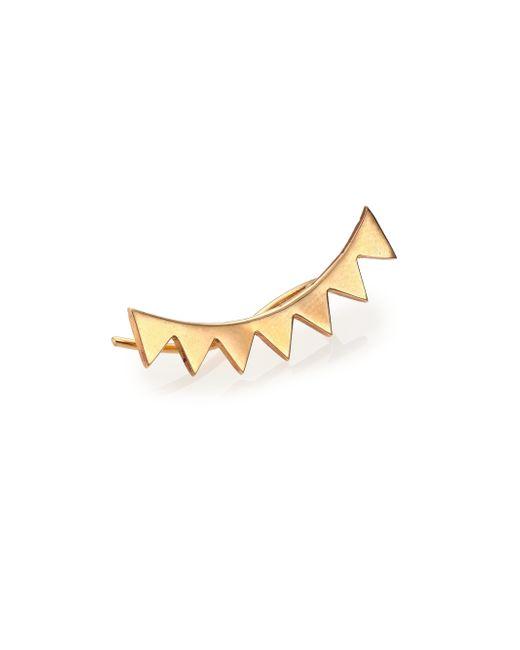 Zoe Chicco | Metallic 14k Yellow Gold Eyelash Single Ear Shield | Lyst