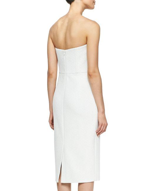 Christian Siriano Draped Ruffle Cocktail Dress In White