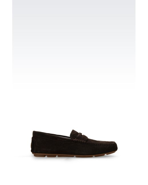 Armani Jeans | Brown Suede Loafer for Men | Lyst