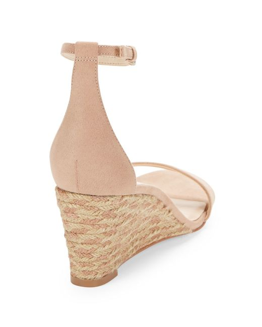 Nine West Nice To See You Wedge Sandals In Beige Natural