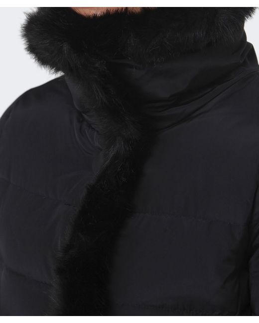 Armani Jeans | Black Faux-Fur Cape | Lyst