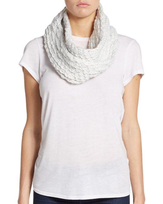 Saks Fifth Avenue | White Roving Yarn Infinity Scarf | Lyst