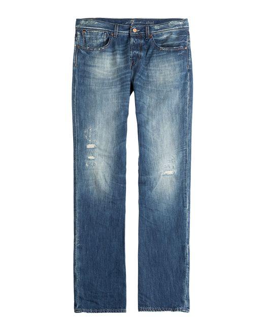 for all mankind straight leg jeans in blue for men lyst. Black Bedroom Furniture Sets. Home Design Ideas