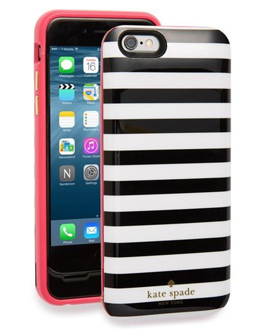 kate-spade-new-york-new-black-white-iphone-6-charging-case-black ...