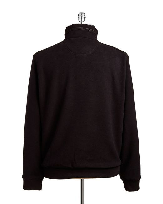 Bugatti | Black Quarter Zip Pullover Sweater for Men | Lyst