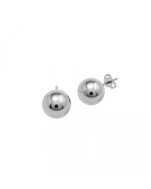 Azendi | Metallic Simple Ball Stud Earrings | Lyst