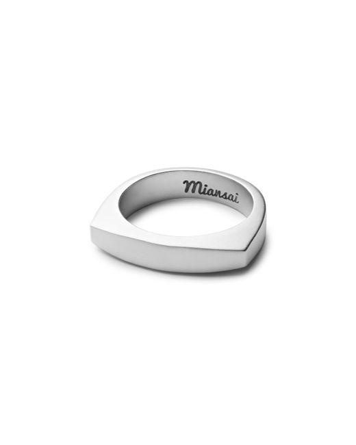 Miansai | Metallic Round Top Silver Ring for Men | Lyst