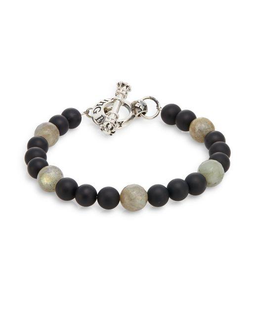 King Baby Studio | Multicolor Onyx, Labradorite & Sterling Silver Beaded Bracelet for Men | Lyst