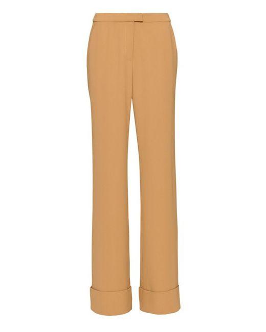 Excellent  39lavzin39 Wide Leg Wool Crop Pants In Khaki SADDLE KHAKI  Lyst