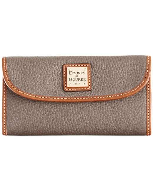 Dooney & Bourke | Gray Pebble Continental Clutch | Lyst