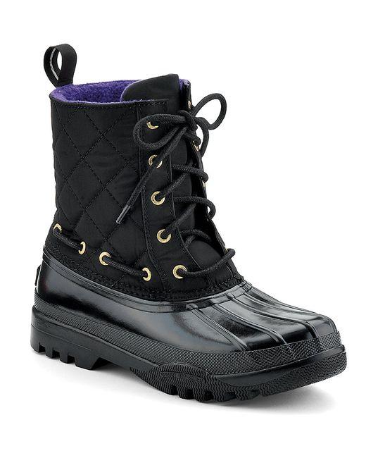Sperry Top Sider Gosling Waterproof Rubber Boot In Black