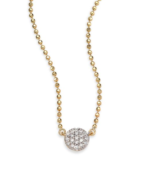Phillips House | Metallic Affair Diamond & 14k Yellow Gold Beaded Infinity Necklace | Lyst