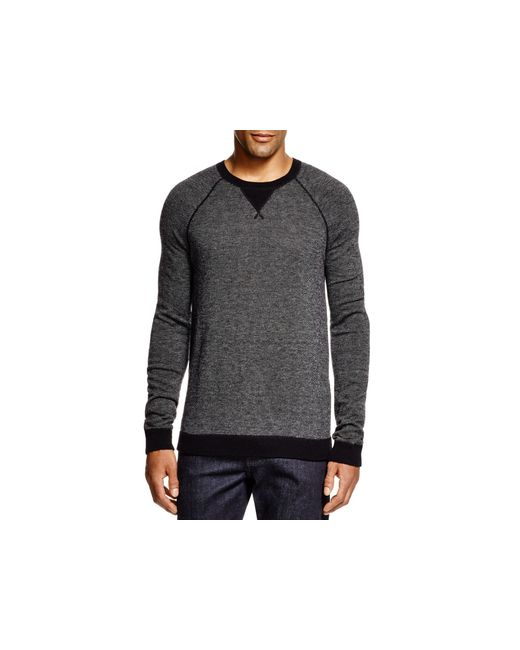 VINCE | Black Cashmere Birdseye Crewneck Sweater - Bloomingdale's Exclusive for Men | Lyst