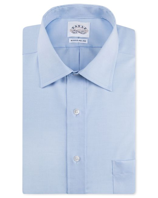 Eagle men 39 s classic fit non iron pinpoint dress shirt in for Mens pinpoint dress shirts