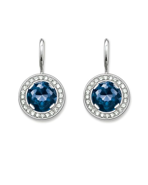 Thomas Sabo | Blue Light Of Luna Corundum Pave Earrings | Lyst