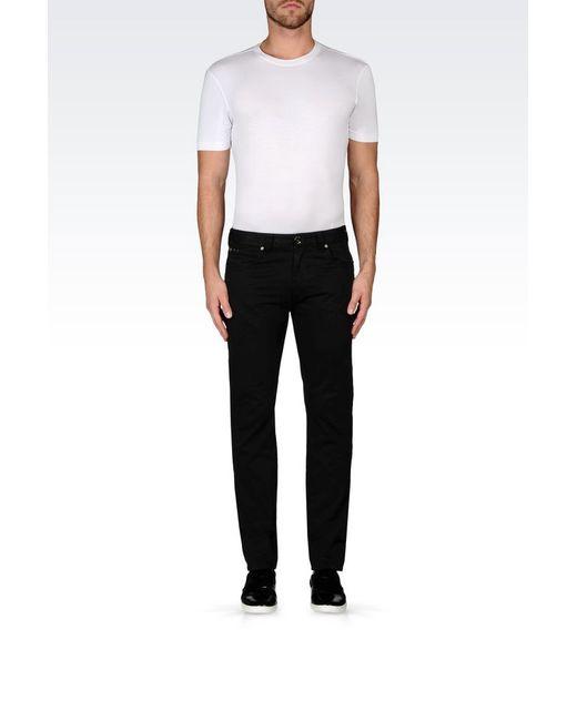 Armani | Black 5 Pockets for Men | Lyst