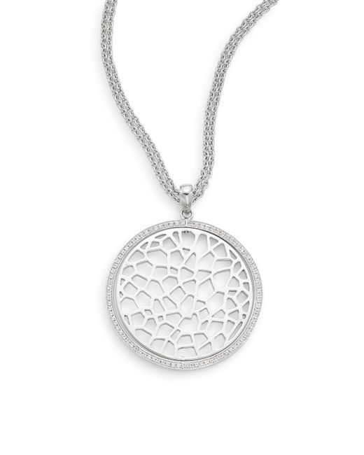 Ron Hami | Metallic Silver Lining White Topaz & Sterling Silver Pendant Necklace | Lyst