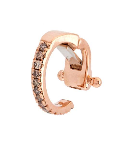 Elise Dray | Diamond & Pink-Gold Mini Ear Cuff | Lyst