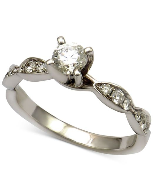 macy s engagement ring 5 8 ct t w in 14k white