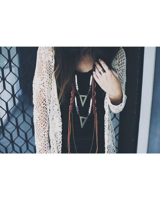 Love Leather | Multicolor Golden Arrow Necklace | Lyst