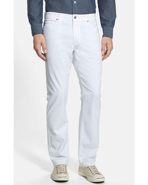 AG Jeans | White Graduate Sud Slim Straight Leg Pants for Men | Lyst